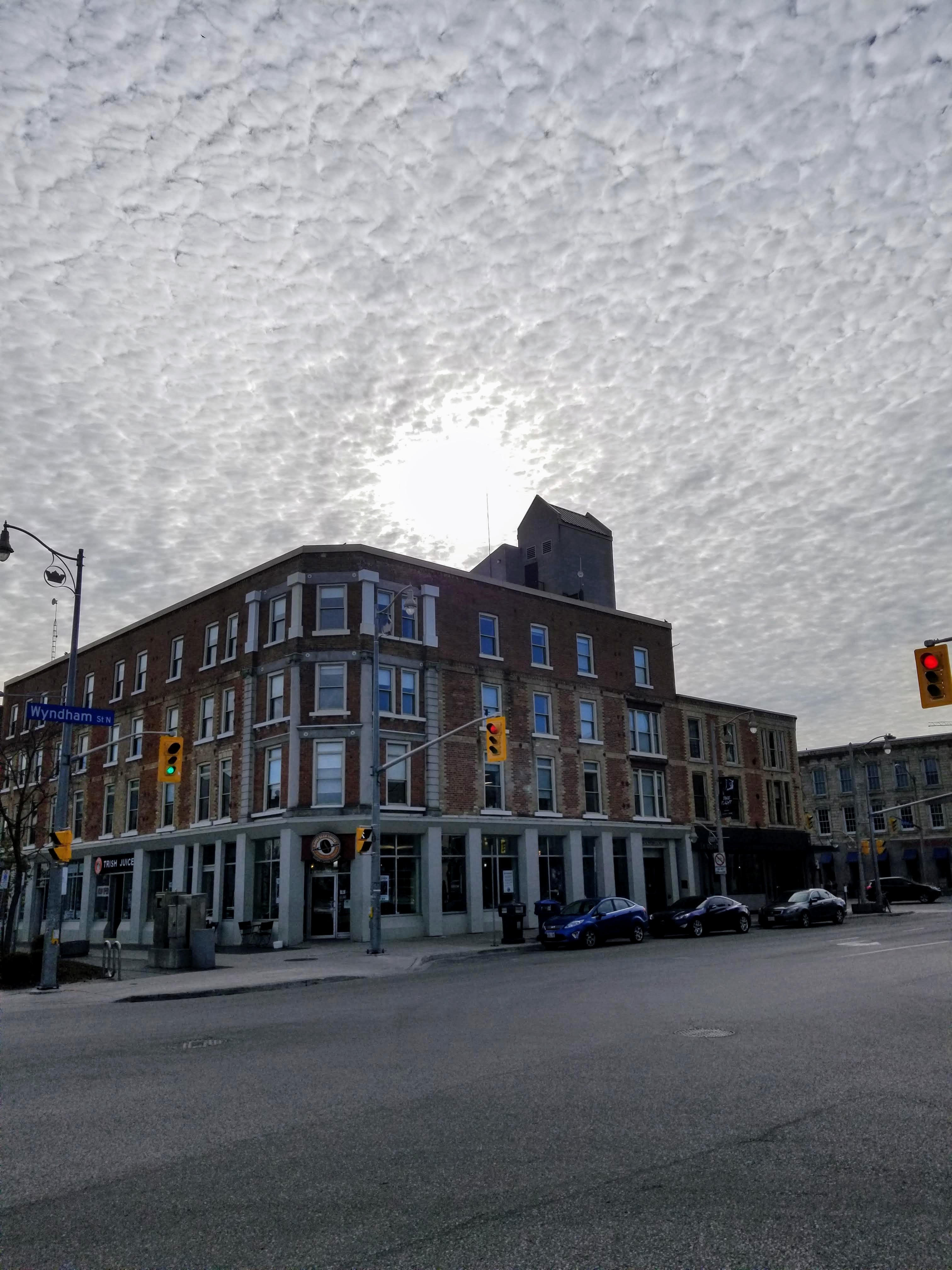 Clouds in downtown Guelph